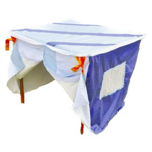 Stripy blue playhouse – educational toy supplier