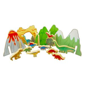 Happy Architect Dinosaurs – Educational wooden toys