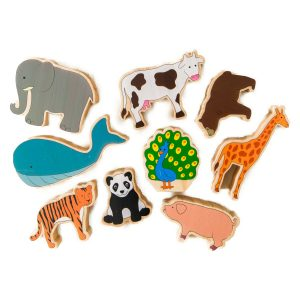 Large wooden animals – educational toys online