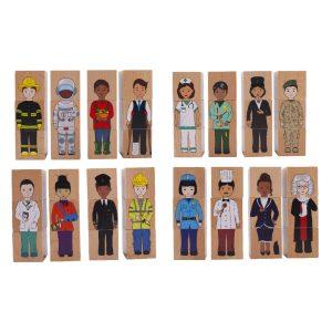 career community blocks – educational wooden toys