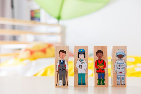 career community blocks - educational wooden toys