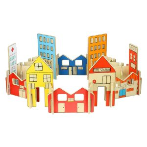 Happy Architect Town – wooden construction toys