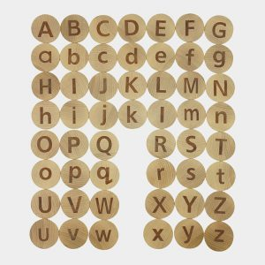 Matching Tactile Wooden Letter Educational Toys