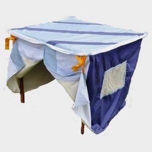 stripy blue playhouse