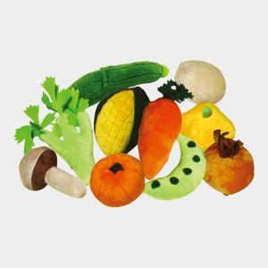 Pretend Play Vegetable Finger Puppets