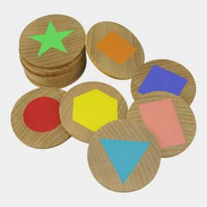 Wooden Shapes Matching Pairs Educational Toy