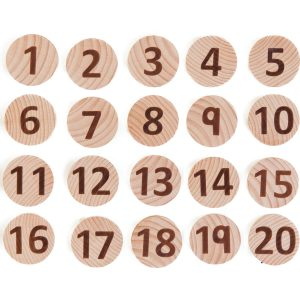 Tactile numbers – educational wooden toys for toddlers