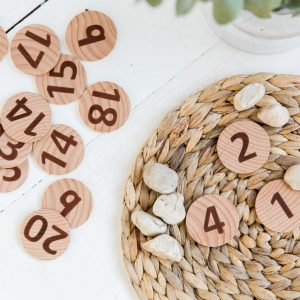 FTactile Wooden Numbers