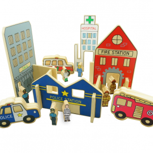FF431 The HAppy Architect Emergency wooden toy set (2)