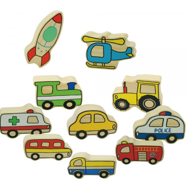Village Vehicles - Wooden educational toys