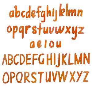 2002- Alphabet magnets – all white bg